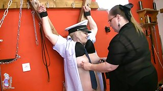 Horny Embrace b influence Between Pansy Grannies - lesbian