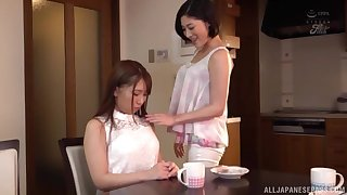 The first lesbian stomach is adorable for Asian Sunohara Miki