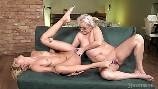 old and young nance love with petting and pussy fingering