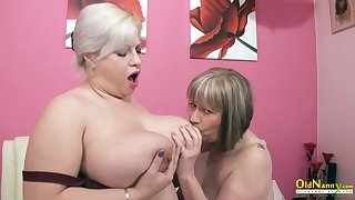 OldNannY Super British Matured Lesbians Toying
